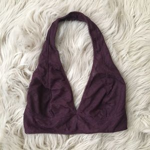 Urban Outfitters Intimates & Sleepwear - UO Pins + Needles Burgundy Geo Lace Halter Bra